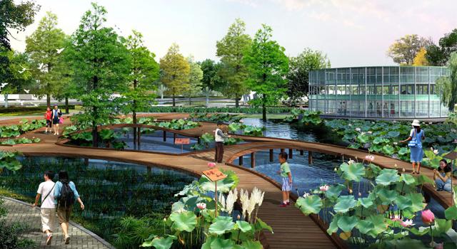东莞石排镇岭南现代农业生态园